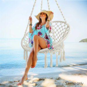 HM CHAIR SWING CREAM 11 300x300 - Gardeon Hammock Swing Chair - Cream
