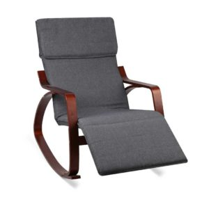 ARMCHAIR 10 CH 00 300x300 - Artiss Fabric Rocking Armchair with Adjustable Footrest - Charcoal