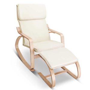 ARMCHAIR STOOL BG 00 300x300 - Artiss Wooden Armchair with Foot Stool - Beige