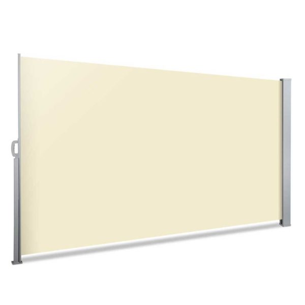 AWN SIDE FC 200 BEIGE 00 600x600 - Instahut Retractable Side Awning Shade 2 x 3m - Beige