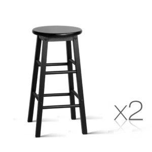BA G 7033 BKX2 00 300x300 - Artiss Set of 2 Beech Wood Backless Bar Stools - Black