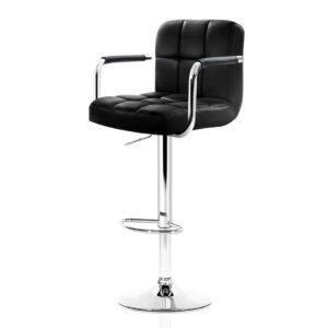 BA K 1055A BKX2 00 300x300 - Artiss 2x Bar Stools Gas lift Swivel Chairs Kitchen Armrest Leather Chrome Black
