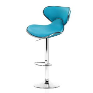 BA K 1060A TEX2 00 300x300 - Artiss 2x Bar Stools Gas lift Swivel Chairs Kitchen Leather Chrome Teal