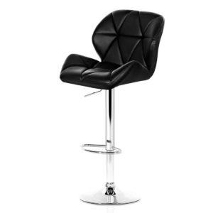 BA K 717A BKX2 00 300x300 - Artiss 2x Bar Stools Gas Lift Kitchen Swivel Chairs Leather Chrome Black