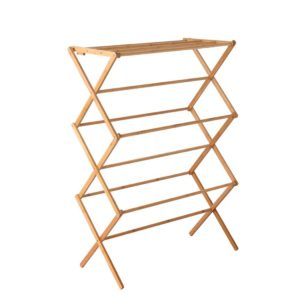 BAM B CR07 NT 00 300x300 - Artiss Bamboo Clothes Dry Rack Folable Towel Hanger Laundry Drying