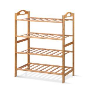 BAM B SR10 NT 00 300x300 - Artiss Bamboo Shoe Rack Organiser Wooden Stand Shelf 4 Tiers Shelves