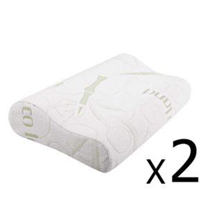 BAM CONTOUR PILLOWX2 00 2 300x300 - Giselle Bedding Set of 2 Bamboo Pillow with Memory Foam