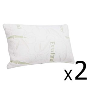 BAM SHED PILLOWX2 00 2 300x300 - Giselle Bedding Set of 2 Bamboo Pillow with Memory Foam