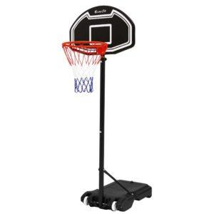BAS HOOP 210 L BK 00 300x300 - Everfit 2.1M Adjustable Portable Basketball Stand Hoop System Rim Black