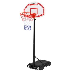 BAS HOOP 210 L WH 00 300x300 - Everfit 2.1M Adjustable Portable Basketball Stand Hoop System Rim White