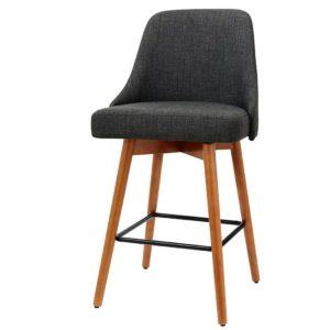 BA TW 8125 CHX2 00 300x300 - Artiss 2x Wooden Bar Stools Swivel Bar Stool Kitchen Cafe Fabric Charcoal