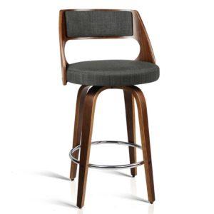 BA TW 8569 CHX2 AB 00 300x300 - 2 x Artiss Wooden Swivel Bar Stools Kitchen Counter Barstool Charcoal Fabric
