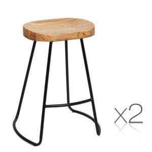BA TW 9090 H65 NTX2 00 300x300 - Artiss Set of 2 Wooden Backless Bar Stools - Natural