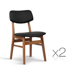 BENT C 8009 BKX2 00 300x300 - Artiss Set of 2 Wood & PVC Dining Chairs - Black