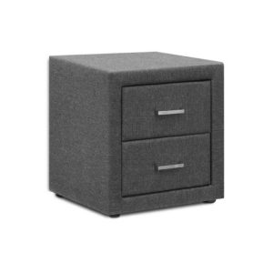 BFRAME E BSIDE GY 00 300x300 - Artiss Fabric Bedside Table - Grey