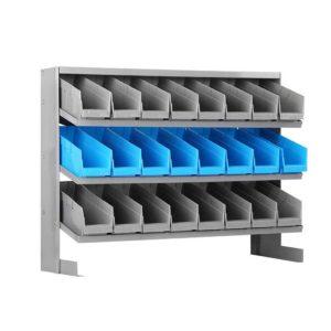 bin rack mount 24 00 300x300 - Giantz 24 Bin Storage Shelving Rack