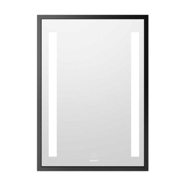 BLM T7050D BK 00 600x600 - Devanti Bathroom Wall Mounted Vanity Makeup Dressing Mirror LED Illuminated 500mm x 700mmm