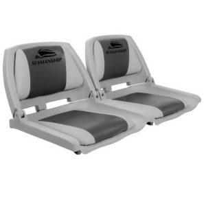 bs 86101 gc fc2 00 300x300 - Seamanship Set of 2 Folding Swivel Boat Seats - Grey & Charcoal