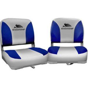 bs 86202 gb 40 00 300x300 - Seamanship Set of 2 Folding Swivel Boat Seats - Grey & Blue