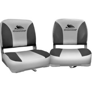 bs 86202 gc 40 00 300x300 - Seamanship Set of 2 Folding Swivel Boat Seats - Grey