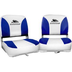 bs 86202 wb 40 00 300x300 - Seamanship Set of 2 Folding Swivel Boat Seats - White & Blue
