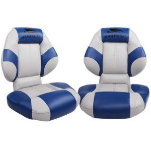 bs 86563 gb 00 300x300 - Seamanship Set of 2 Folding Swivel Boat Seats- Blue & Grey