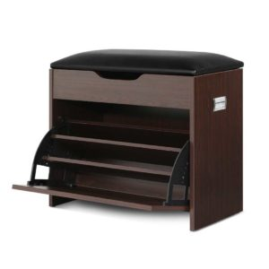 CABINET 8836 WAL 00 300x300 - Artiss 12 Pairs Shoe Cabinet Organiser Wooden Storage Bench Stool