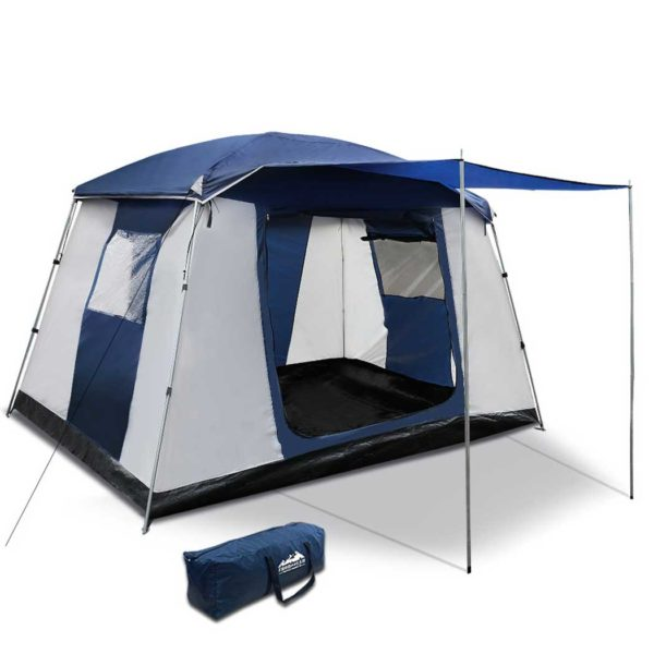 camp tent ca6 na 00 600x600 - Weisshorn 6 Person Dome Camping Tent - Navy and Grey