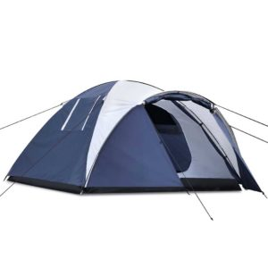 camp tent dome4 na 00 1 300x300 - Weisshorn 4 Person Canvas Dome Camping Tent - Navy & White