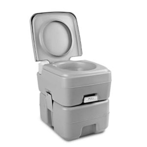 camp toilet 20l t 00 300x300 - Weisshorn 20L Portable Outdoor Camping Toilet - Grey