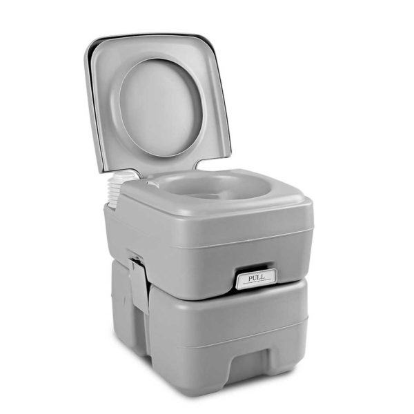 camp toilet 20l t 00 600x600 - Weisshorn 20L Portable Outdoor Camping Toilet - Grey