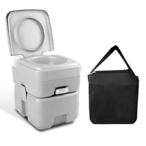 camp toilet 20l t fc 00 300x300 - Weisshorn 20L Portable Outdoor Camping Toilet with Carry Bag- Grey