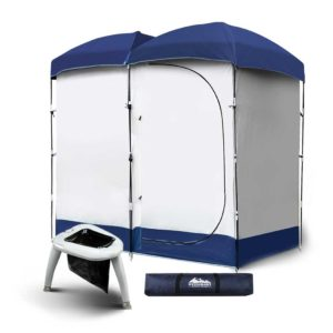 CAMP TOILET EPOT CR DOU 00 300x300 - WEISSHORN Double Camping Shower Tent Portable Toilet Outdoor Change Room Ensuite