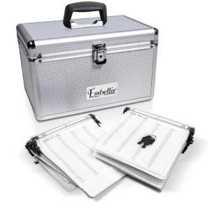 case cd 240 sl 00 1 300x300 - Embellir 240 Disc Aluminium Storage Box - Silver