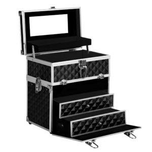 case hz8 040 dibk 00 300x300 - Embellir Portable Cosmetic Beauty Makeup Carry Case with Mirror - Diamond Black