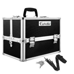 case mu hz7002 bk 00 2 300x300 - Embellir Portable Cosmetic Beauty Makeup Case with Mirror - Black