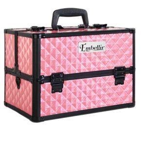 case mu hz7002 dipi 00 300x300 - Embellir Portable Cosmetic Beauty Makeup Case with Mirror - Diamond Pink