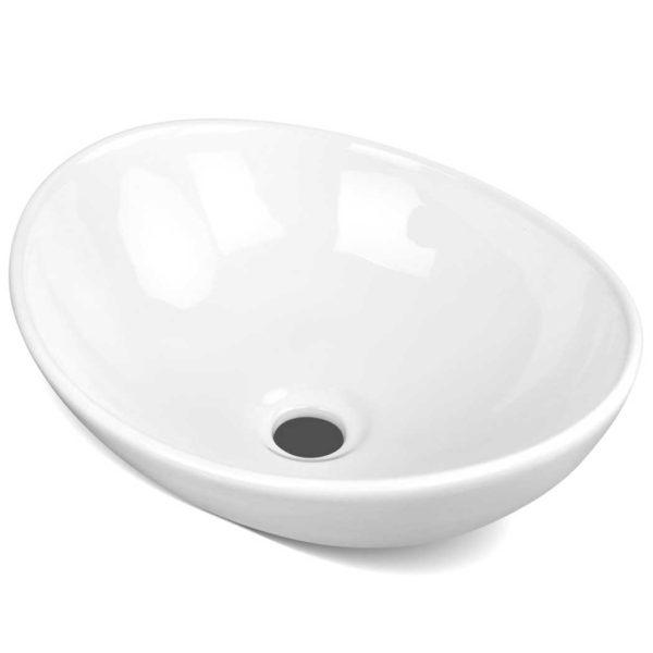 CB 005 WH 00 600x600 - Cefito Ceramic Oval Sink Bowl - White