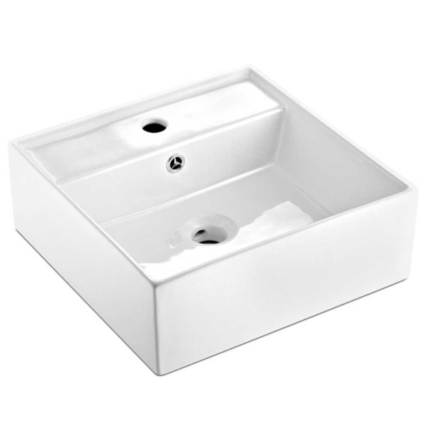 CB 082 WH 00 600x600 - Cefito Ceramic Rectangle Sink Bowl - White