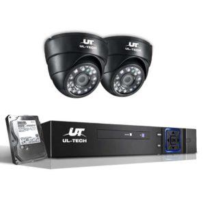 CCTV 4C 2D BK 2T 00 300x300 - UL-Tech CCTV Security System 2TB 4CH DVR 1080P 2 Camera Sets