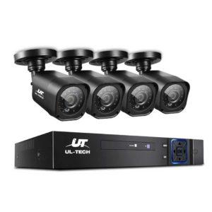 CCTV 4C 4S BK 00 300x300 - UL-TECH 4CH 5 IN 1 DVR CCTV Security System Video Recorder 4 Cameras 1080P HDMI Black