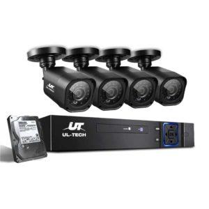 CCTV 8C 4S BK 2T 00 300x300 - UL-Tech CCTV Security System 2TB 8CH DVR 1080P 4 Camera Sets