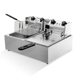 cdf d4c double 00 300x300 - 5 Star Chef Commercial Electric Twin Deep Fryer - Silver