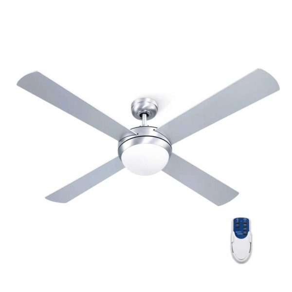 "CF RC 52 SI 00 600x600 - Devanti 52"" Ceiling Fan with Light Silver"