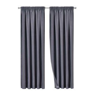 CURTAIN 01H D213X140 DG 00 300x300 - Artqueen 2X Pinch Pleat Pleated Blockout Curtains Dark Grey 140cmx213cm