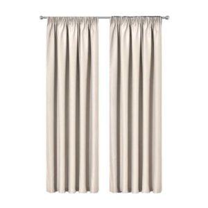 CURTAIN 01H D230X180 SD 00 300x300 - Artqueen 2X Pinch Pleat Pleated Blockout Curtains Sand 180cmx230cm