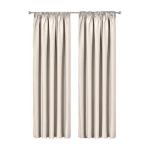 CURTAIN 01H D230X240 SD 00 300x300 - Artqueen 2X Pinch Pleat Pleated Blockout Curtains Sand 240cmx230cm