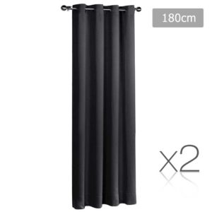 CURTAIN 180 BK X2 00 300x300 - Art Queen 2 Panel 180 x 230cm Block Out Curtains - Black