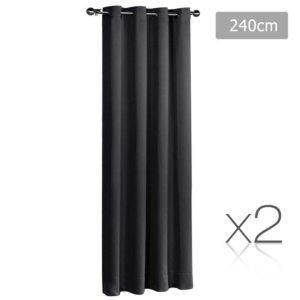 CURTAIN 240 BK X2 00 300x300 - Art Queen 2 Panel 240 x 230cm Block Out Curtains - Black