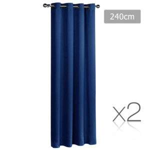 CURTAIN 240 NAVY X2 00 300x300 - Art Queen 2 Panel 240 x 230cm Eyelet Block Out Curtains - Navy